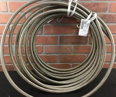 "Eaton H24308 Hydraulic Hose Line 1/2"" ID Braided Wire Reinforced 50ft Qty"