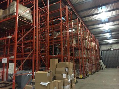 90 Bays Industrial Commercial Warehouse Pallet Racking Shelving 6.2 & 4M High