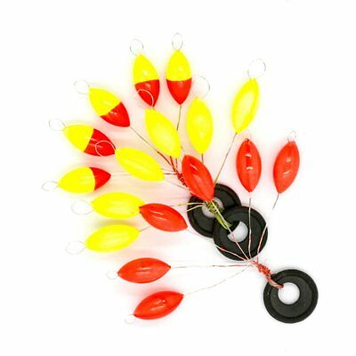 Fluorescent yellow red two-color seven-star float traditional fishing float LS