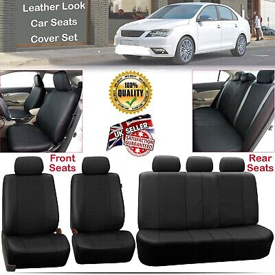 Universal Washable Car Seat Covers Protectors Full Front Rear Airbag Compatible