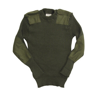 British Army Commando Wool Jumper - Military Surplus Tactical Pullover Sweater