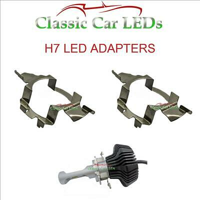 2 X H7 Led Ampoule Phare Adaptateur Support Audi BMW Mercedes-Benz Skoda VW Opel