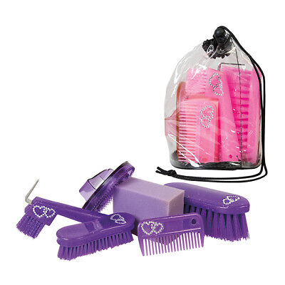 Weaver Youth Grooming Kit - Brushes, Hoof Pick, Curry, Mane Comb and Sponge