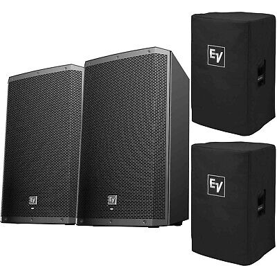"""Electro-Voice ZLX-12BT 12"""" 1000W Powered Bluetooth DJ PA Speakers Pair w/ Covers"""