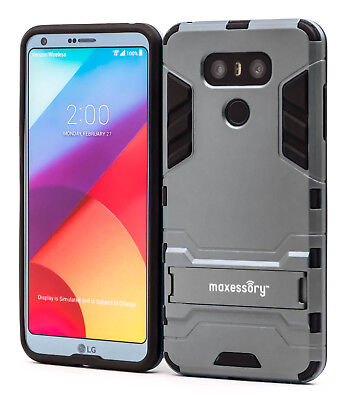 LG G6 Case Gray Protective Ultra-Thin Lightweight Rugged Tough Armor Stand Case