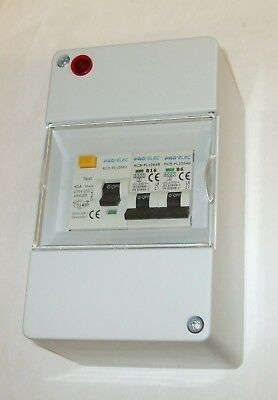 Consumer Unit for Boats, Vehicle, - 40A RCD, 2 x MCB's + polarity check  COU240