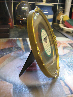vintage arco british small oval gilt frame photo picture wood back frame xmas