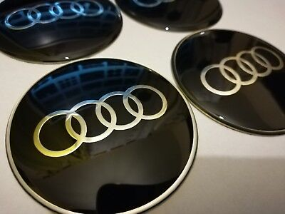 4 PCS 65 MM AUDI Rim Cover Decal Wheel Center Hub Cap Sticker logo A3 A4 Q3 Q5