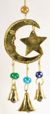 NEW Three Bell Star and Moon Wind Chime FW513