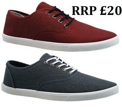 Mens Stone Creek Lace Up Trainers Casual Canvas Skate Pumps Shoes New Size 6-12