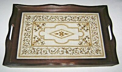 Serving Tray National Historic Preservation Crewel Embroidery South Carolina