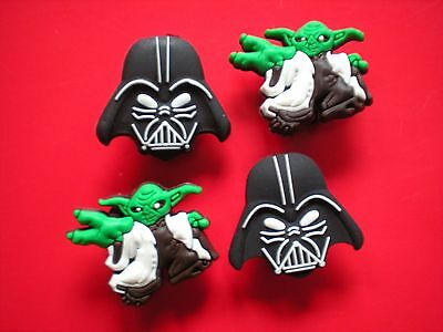 Shoe Charms Plug Button Accessories Clog Holes WristBands Belts Darth Vadar Yoda