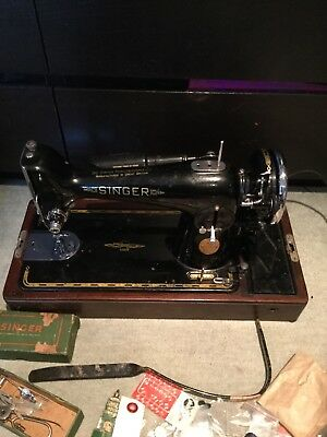 VINTAGE SINGER electric Sewing Machine ec218664 Class 201 K