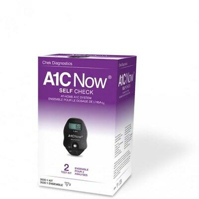 BRAND NEW  A1CNow SELFCHECK AT-HOME A1C Now System 2 Test Kit 3030