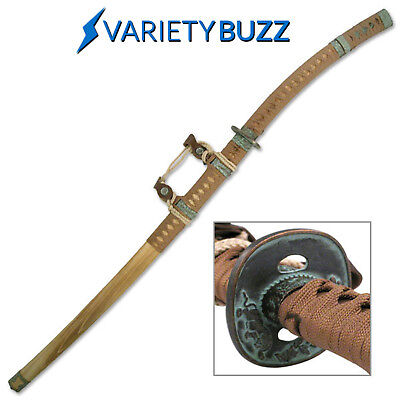"45"" Jintachi Natural Wood Japanese Samurai Katana Sword Ninja Bushido Leather"