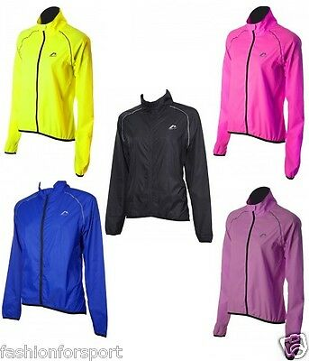 More Mile Womens High Viz Reflective Running Cycle Cycling Wind Sports Jacket