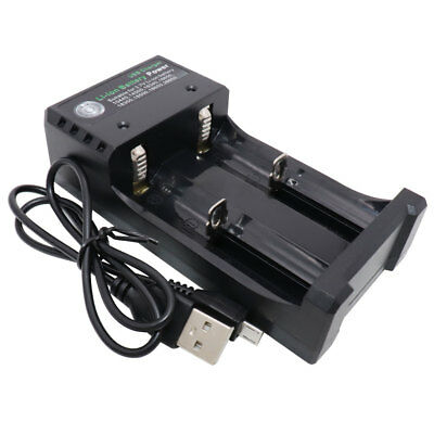 18650 Battery Charger Smart Li-ion Rechargeable 2 slots USB Plug for 10440 14500