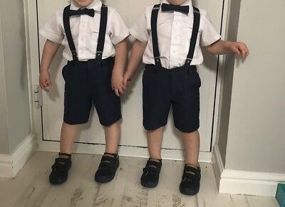 Twins Boys 2-3 Page Boy Wedding Outfit Smart Set