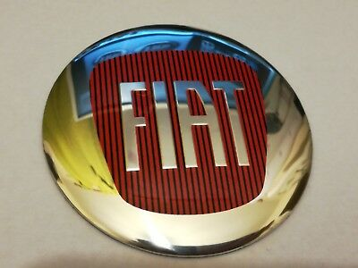 FIAT 4Pcs 56.5mm Aluminum Wheel Center Hub Caps Emblem Sticker Logo Badge Decal