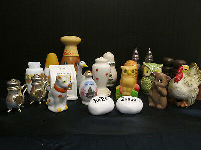 HUGE Vintage Odd Lot of Salt and Pepper Shakers Mixed Lot