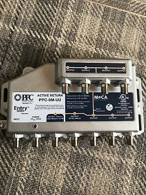 PPC Entry Series PPC-9M-U/U-PS Active Return 9-Port Amplifier Signal Booster New