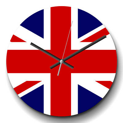 Large Wall Clock Silent 32cm Modern Home Decor Decor Union Jack British Flag (4)