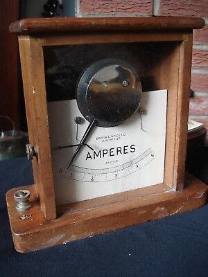 Antique Wooden Cased Amperes By Griffin & Tatlock