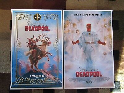 """Once Upon a Deadpool ( 11"""" x 17"""" )  Movie Collector's Poster Prints ( Set of 2 )"""