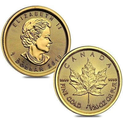 Lot of 2 - 2019 1/20 oz Canadian Gold Maple Leaf $1 Coin .9999 Fine BU (Sealed)