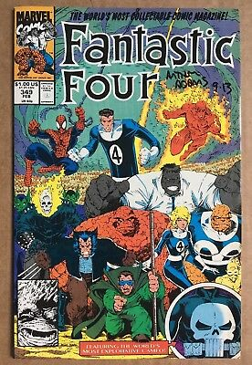Fantastic Four #349  (1991) Marvel  FN  SIGNED by ART ADAMS  Direct Edition