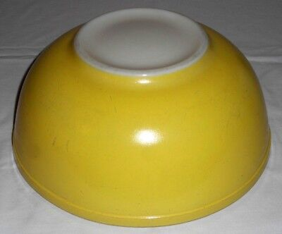 Retro MCM Vintage PYREX Primary Color Bright Yellow Nesting Mixing Bowl LARGE