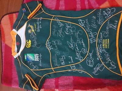 Rugby World Cup 2007 Jersey Signed By Springboks And Nelson Mandela