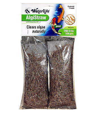 Waterlife Algistraw + Bouyancy Aid Treats 7260 lts Helps To Control Pond Algae