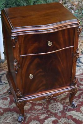 1920s Antique French Joerns Brothers Furniture CO Mahogany Nightstand side table