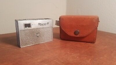 Vintage Whittaker Micro 16 Subminature Camera With Case
