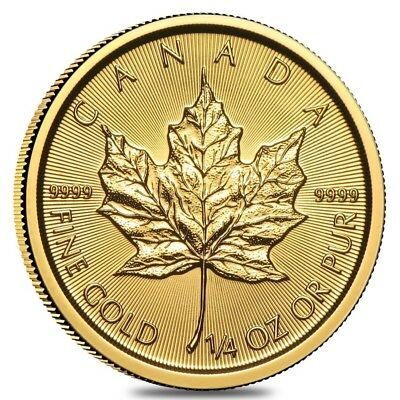 2019 1/4 oz Canadian Gold Maple Leaf $10 Coin .9999 Fine BU (Sealed)
