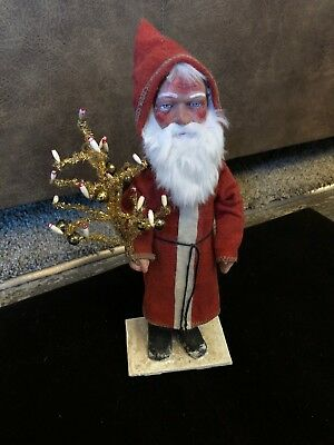 "Vintage German Santa Candy Container 12""tall"