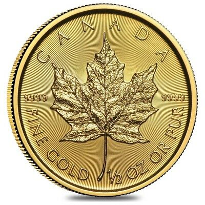 2019 1/2 oz Canadian Gold Maple Leaf $20 Coin .9999 Fine BU (Sealed)