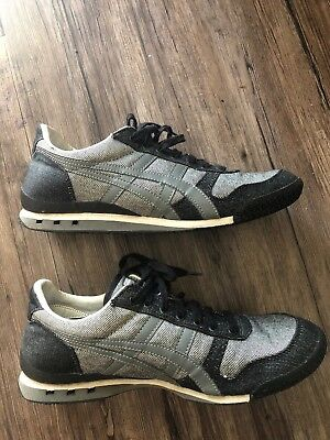 new concept e801c aa372 TIGER ONITSUKA ASICS HN201 Men's US 9 Gray Sneakers Running Athletic Shoes  Grey