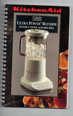 Manual Instructions & Recipes ONLY Kitchen Aid Blender 5 Speed Ultra Power