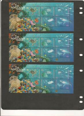 Australia STAMP SHOW OVERPRINTED Souvenir Sheets Selection of 7 MNH