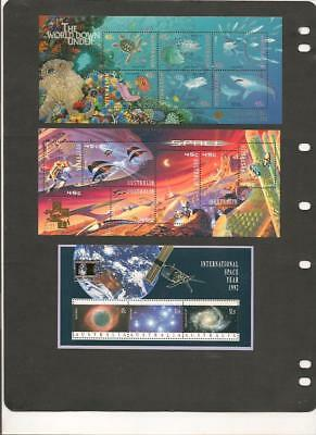 Australia STAMP SHOW OVERPRINTED Souvenir Sheets Selection of 8 MNH