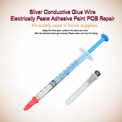 Silver Conductive Glue Wire Electrically Paste Adhesive Paint PCB Repair NWMI