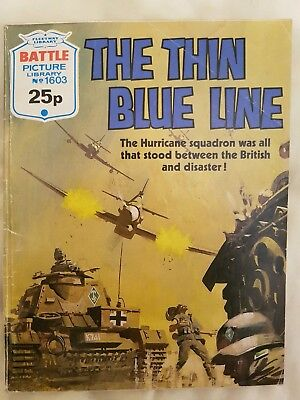 Battle Picture Library war story comic no. 1604 'The thin blue line'
