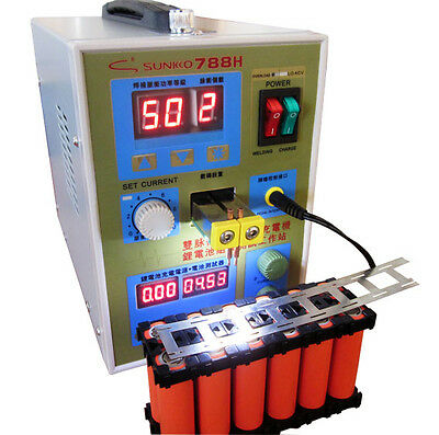 788H with LED Dual Pulse Spot Welder Welding Machine Power Tool Battery Charger