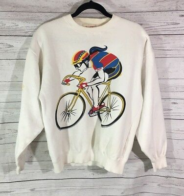 Vintage Coca Cola 1980s Sweater Sz Medium Cycling Official Team Pullover Rare