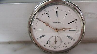 Antique Key wind & set Coin Silver Pocket Watch 1800's 15 Jewels Running strong!