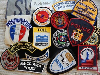 Vintage Private Collection Police Patch Lot Used and Unused