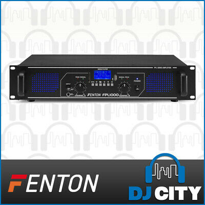 1000W Power Amplifier 2-Channel FPL1000 PA DJ Amp w/ Bluetooth and MP3 Player