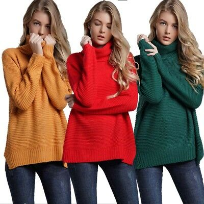 Coarse Pullover Women's Jumper Turtleneck Sweater Jumper Warm Knitted Clothing